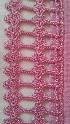 Havlu kenarı Knitting Projects, Crochet Projects, Yarn Crafts, Diy Crafts, Types Of Weaving, Thread Crochet, Irish Crochet, Crochet Designs, Projects To Try