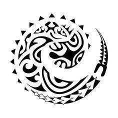 This Koru tattoo symbol means new beginning in Maori culture.