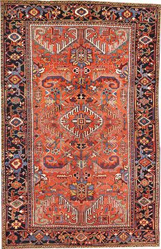 Heriz rug  size approximately 6ft. 4in. x 9ft. 6in.