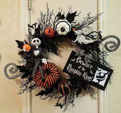Résultats de recherche d'images pour «décoration extérieure halloween thème jack skellington»