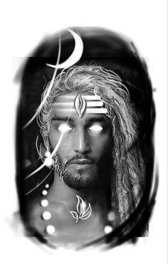 Creative Tattoos, Unique Tattoos, Mahadev Tattoo, Aghori Shiva, Shiva Tattoo Design, God Tattoos, Lord Shiva Pics, Shiv Ji, Custom Tattoo