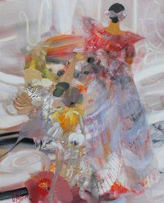 LA ROBE DE SOIE-peinture-LE NALBAUT -peintre - Galerie Vieceli
