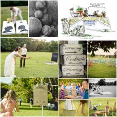 Outdoor games, this would be so much fun at a wedding!
