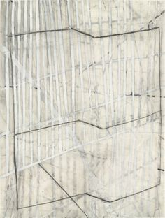 """Eve Aschheim, Transverse (1998), Gesso, crayon, and pencil on synthetic polymer sheet, 12 x 9"""" (30.5 x 22.9 cm)"""