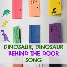 Dinosaur Behind the Door Circle Time Song