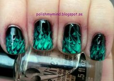Needle drag mani by polish my mind.