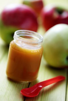 Papilla de manzana y calabacín