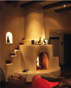 Another Kiva fireplace. Having been such a traditionalist when it comes to fireplaces, I'm just not liking a lot of things on a mantel...