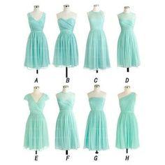 Knee Length Bridesmaid Dresses pst401