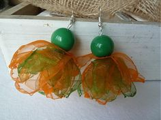 Martinuska / oranžovo zelené balerínky