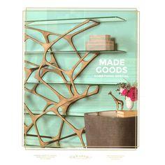 Made Goods Gerald 5 Shelf Bookshelf - Aged Brass   Open Shelving   Home Office   Furniture    Candelabra, Inc.