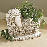 Love this Sheep planter! sheep planter
