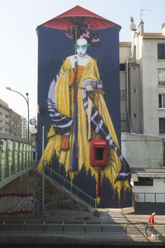 """Dengju"" something new by Fin DAC in Paris, France. ""Dengju"" something new by Fin DAC in Paris, France. Graffiti Art, Street Art Banksy, Murals Street Art, Grafitti Street, Graffiti Cartoons, Mural Art, Urbane Kunst, Toddler Art Projects, Urban Street Art"