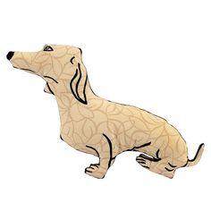decorative pillow, dog pillow, animal pillow, dachshund dog shaped pillow softie tan graphic fabric by pattihaskins on Etsy