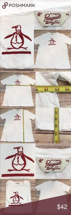 💛Size XXL Penguin Men's White T-shirt Munsingwear Measurements are in photos. Normal wash wear, no flaws. B1/18   I do not comment to my buyers after purchases, due to their privacy. If you would like any reassurance after your purchase that I did receive your order, please feel free to comment on the listing and I will promptly respond. I ship everyday and I always package safely. Thanks! Munsingwear Shirts Tees - Short Sleeve
