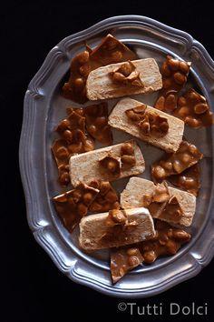pumpkin semifreddo with marcona almond brittle