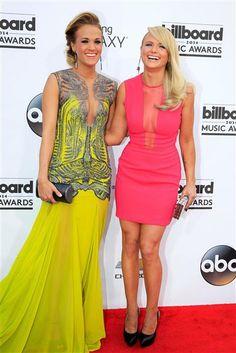 Carrie Underwood and Miranda Lambert both wore neon colors at the Billboard Music Awards. See more stars on Wonderwall: http://on-msn.com/TnwGVp