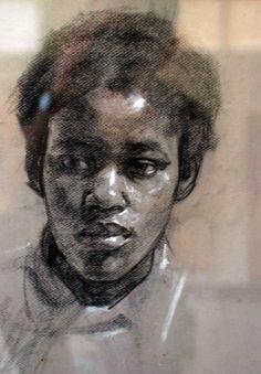 Robert Hannaford Bernice-charcoal-5-1971.jpg (2008×2888)