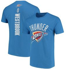 Russell Westbrook Oklahoma City Thunder Fanatics Branded Backer Name & Number T-Shirt - Blue - $27.99