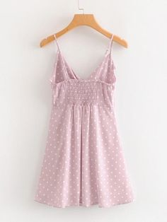 Button Through Knot Polka Dot Cami Dress Casual Skirt Outfits, Summer Outfits, Summer Dresses, Blouse Styles, Ladies Dress Design, Cute Dresses, Dress Skirt, Fashion Outfits, Ruffle Trim