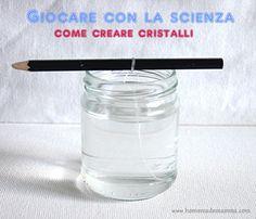 esperimenti scientifici con i bambini come creare cristalli