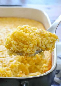 Corn Pudding is a classic side dish that is most beloved in the American south - creamed corn in a sweet and fluffy custard. Corn Pudding Casserole, Sweet Corn Casserole, Cornbread Pudding, Casserole Recipes, Cream Corn Casserole, Cornbread Casserole, Canned Corn Recipes, Corn Pudding Recipes, Veggie Recipes