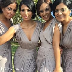 Latte Bridesmaid Dresses - in love with this colour