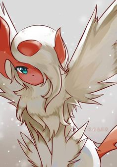 This is my other Absol, Nightfeather. Nightfeather tends to be lonely, but is…