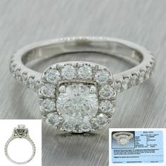 This is a beautiful Neil Lane Modern 14k Solid White Gold 1.77ctw Diamond Engagement Ring EGL. The ring has been certified by EGL, one of the world's leaders in