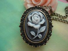 Antique Bronze Vintage Filigree Victorian Rose $4.89