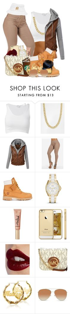 """""""Only 2 exams left :-))"""" by loyalartist607 ❤ liked on Polyvore featuring Helmut Lang, Pieces, LE3NO, Timberland, FOSSIL, Charlotte Tilbury, Michael Kors, Identity, Burberry and Breezy Excursion"""