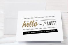 Rockabye and Hello Baby Shower Thank You Cards by Frooted Design at minted.com