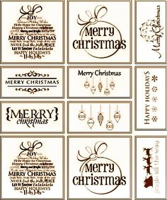 Rustic Christmas gift tags and labels. Free printable.
