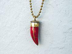 Horn Necklace- an Italian good luck symbol, especially in Naples, and the Amafi Coastal region.