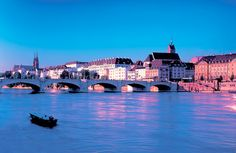 The river Rhine in Basel, Switzerland.