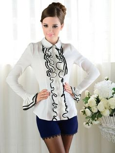 17e09128ae1ca 83 Best Ruffle blouse images
