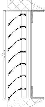 Wetterschutzgitter W57 Alfitec Gitterelemente aus Aluminium, Lüftungsgitter Lamellengitter Gitter Aluminium, Weather Vanes, Lattices
