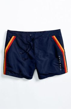 BOSS Black 'Rainbowfish' Stripe Swim Shorts | Nordstrom