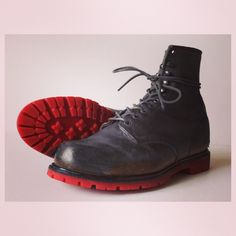 Resoled Red Wing #1907 with our Natural Colored Bricklayer outsole ...