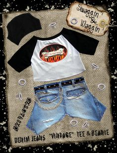 Dog Clothes Pattern   FD-1028-Swaggin Waggin, Casual Jeans and Tee-Shirt.