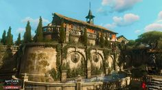 The castle of Dun Tynne was probably the largest location I've worked on during the Blood and Wine development; the largest, but also my favourite. The second biggest castle in Toussaint (after Beauclair), plus a fairly rich one as well - that Fantasy City, Fantasy Places, Fantasy World, Medieval Houses, Western Sahara, The Witcher 3, Environmental Design, Landscape Architecture, Paths