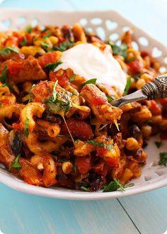Chicken Chili Pasta #Recipe. #Celiac #coeliac, use #Glutenfree #Pasta, #ChickenBroth, & #HotSauce.