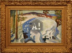 Akseli Gallen Kallela - Hiidenkivi Art Paintings, Classic, Derby, Painted Canvas, Classic Books, Painting Art, Art Drawings