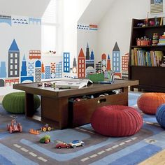 Kids' Play Tables: Kids Chocolate Colored Adjustable Mojo Play Table in Play Tables & Chairs