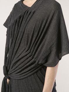 Draped Fringe Dress - creative pattern cutting; sewing idea; fashion design detail // Junya Watanabe Comme des Garcons