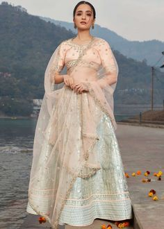 #grey #embroidery #lehenga #choli #dupatta #indianwear #traditional #outfit #beautiful #bride #new #designer #collection #ootd #wedding #time #womenswear #online #shopping