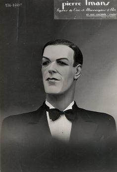 Pierre Imans  Figure de Cire et Mannequin DArt. Mode. Tirage argentique dépoqu