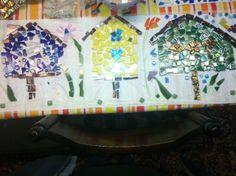 7th grade mosaic planter box side 2 in progress