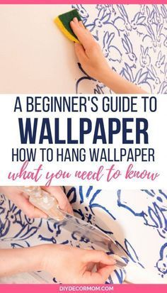 how to hang wallpaper tutorial including DIY wallpaper and how to hang prepasted wallpaper! See how to hang wallpaper for your bedroom bathroom and around windows and corners with this step-by-step guide even newbies can do! Make sure you don't make thi How To Hang Wallpaper, Diy Wallpaper, Bathroom Wallpaper, Hanging Wallpaper, Wallpaper Installation, Hallway Decorating, Decorating Tips, Wallpapering Tips, Prepasted Wallpaper