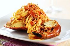Take advantage of a tasty Gulf treasure with our inventive spin on an Italian favorite. You'll need: 1 pound whole-wheat linguine tablespoons Fish Recipes, Seafood Recipes, Pasta Recipes, Cooking Recipes, Copycat Recipes, Yummy Recipes, Seafood Pasta Dishes, Seafood Dinner, Fra Diavolo Recipe